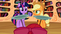 "Twilight and Applejack ""three cutie marks!"" S02E06"