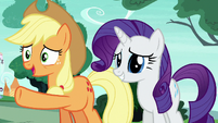 Applejack Changeling --you freaked out and ran away-- S6E25