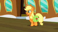 Applejack about to leave for Canterlot S2E14