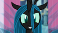 Chrysalis watching Canterlot in chaos S02E26.png