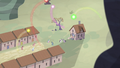 Cutie marks flying over the village S5E2.png