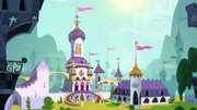 Exterior view of Canterlot Castle S8E7