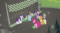 Falcon on Rainbow Dash S2E07