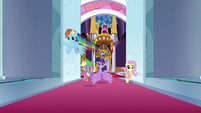 Mane Six burst into Canterlot throne room S9E1