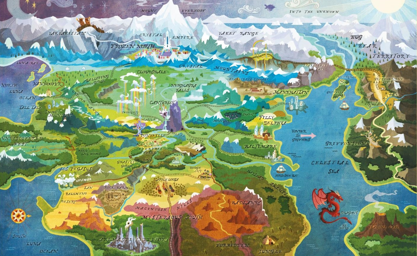 Mlp Equestria Map Equestria | My Little Pony Friendship is Magic Wiki | FANDOM