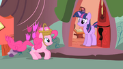 Pinkie Pie going to Twilight to invite her to another party S1E25