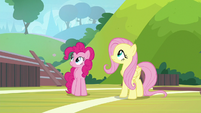 Pinkie and Fluttershy hear Rainbow Dash S9E15
