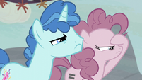 Pinkie and Party Favor can barely see Starlight S5E2