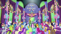 Ponies gathered for Starlight and friends' ceremony S7E1