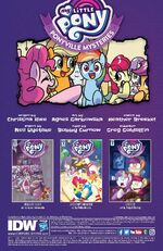 Ponyville Mysteries issue 2 credits page