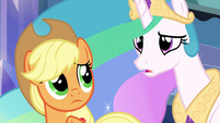 Princess Celestia asks about Sunset Shimmer EG