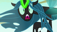 Queen Chrysalis hissing furiously S6E26