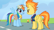Rainbow Dash receives the lead pony badge