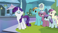 Rarity acting like she is a Crystal Pony S3E1.png