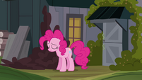 Sad Pinkie Pie about to give up on Cranky S02E18