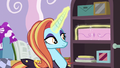 Sassy places box of sapphires on the shelf S7E6.png
