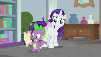 "Spike ""it's from Princess Celestia!"" S8E25"