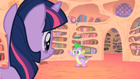 Spike goes to fetch the book S1E24