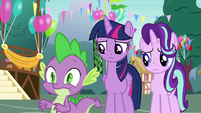 Spike gulping nervously S7E15