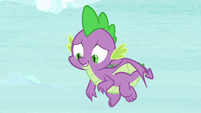 Spike looking a little embarrassed S8E24