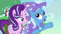 Trixie -popping all around Equestria- S7E17