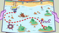 Twilight Sparkle's map of the beach waters EGDS18