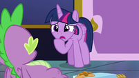 Twilight Sparkle apologizes to Spike S8E24