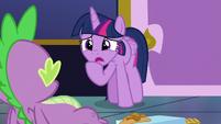 Twilight Sparkle apologizes to Spike S8E24