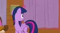 Twilight Sparkle closes the window curtains S7E22