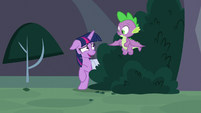 Twilight Sparkle laughing embarrassed S9E5