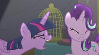 Twilight yelling at Starlight Glimmer S6E6