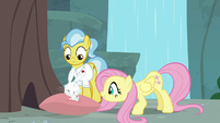 Angel overjoyed that Fluttershy is okay S9E18
