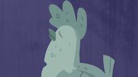 Antique chicken with dark blue background S4E22