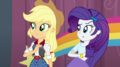 Applejack and Rarity looking at Pinkie Pie EGS1.png