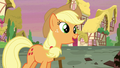 """Applejack sings """"it's not the things that you gather 'round"""" S5E3.png"""