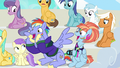 Bow and Windy cheering for filly Rainbow Dash S7E7.png