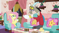 Discord about to refill Fluttershy's teacup S7E12.png