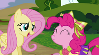 Fluttershy laughing nervously S4E10