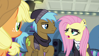 "Goth Fluttershy ""out of this aura of positivity"" S8E4"