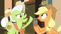 Granny Smith knocks away caramel syrup bottle S7E13