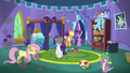 Main cast sees wall crashed by Pinkie S5E19.png