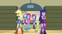 Mane 6 entering the gymnasium EG2