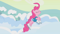 Pinkie Pie leaping off the ice S1E11
