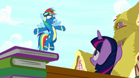 "Rainbow ""because of Pinkie's playing!"" S8E18"