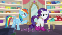 "Rainbow ""heels on a horse are pretty useless"" S8E17"