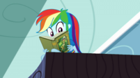 Rainbow Dash looking at Twilight and Rarity SS12
