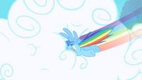 Rainbow Dash punching through clouds 2 S1 Opening