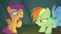 Rainbow Dash scaring Scootaloo S7E16
