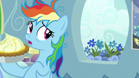 Rainbow Dash sees flowers on her windowsill S7E23