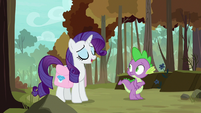 "Rarity ""everypony has to leave the nest"" S8E11"